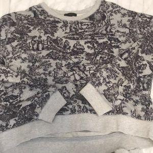 J. Crew Tops - J. Crew toile print cropped sweatshirt